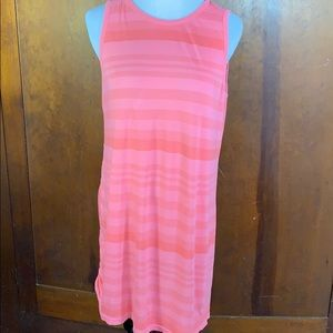 Lou & Grey Lightweight Coral Striped Dress